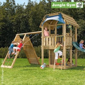 Детский городок Jungle Gym Barn + Climb Module Xtra